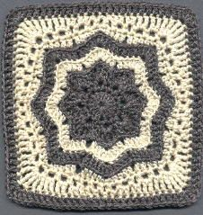 Nordic Star Afghan Square: free pattern