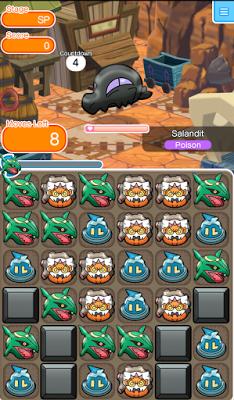Pokemon Shuffle Pokemon Safari Salandit Pokemon