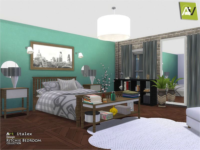 Ritchie Bedroom Found in TSR Category \'Sims 4 Adult Bedroom Sets ...