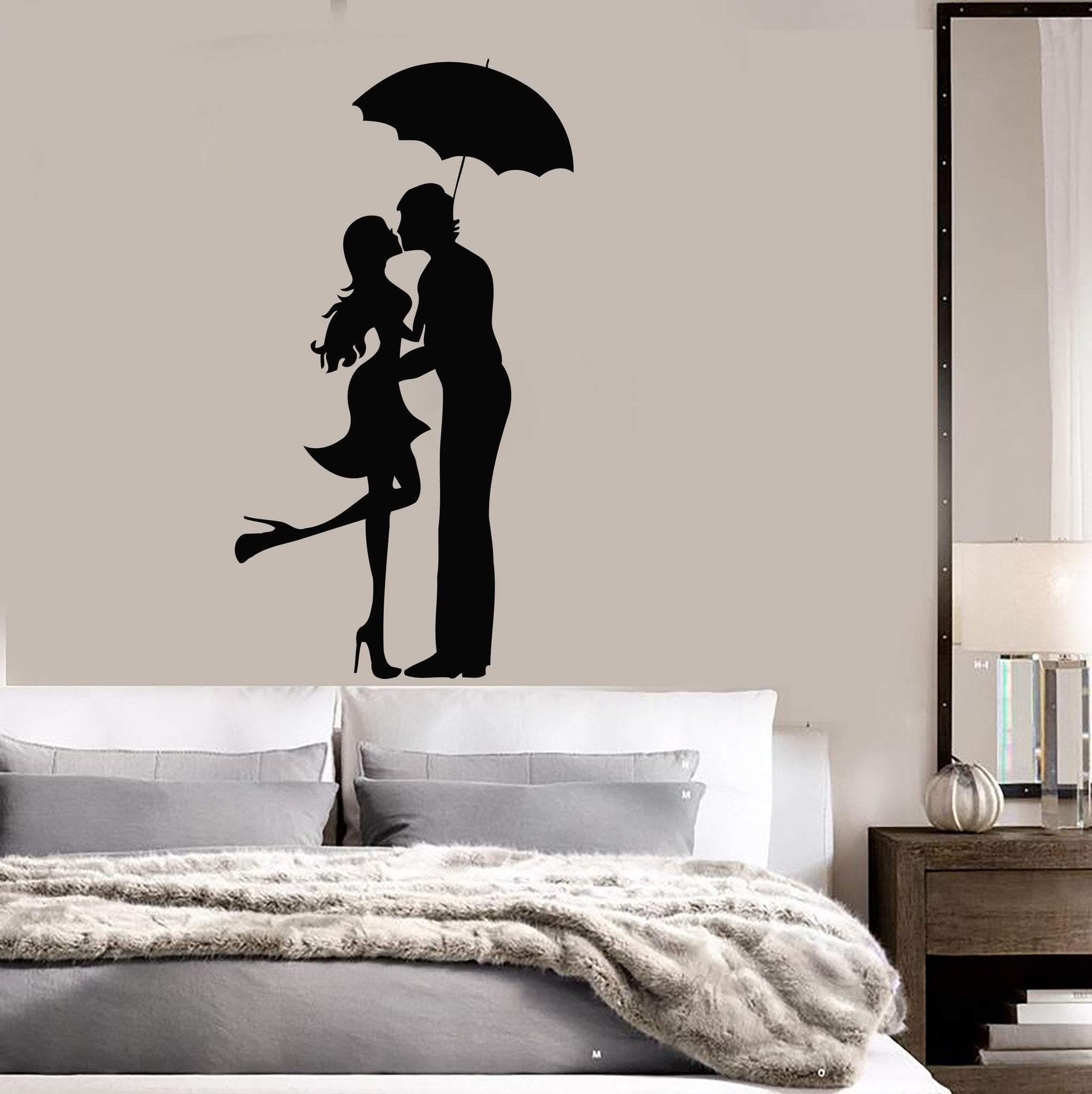 Wall Sticker Kiss Kissing Couple Romantic Love Decor For