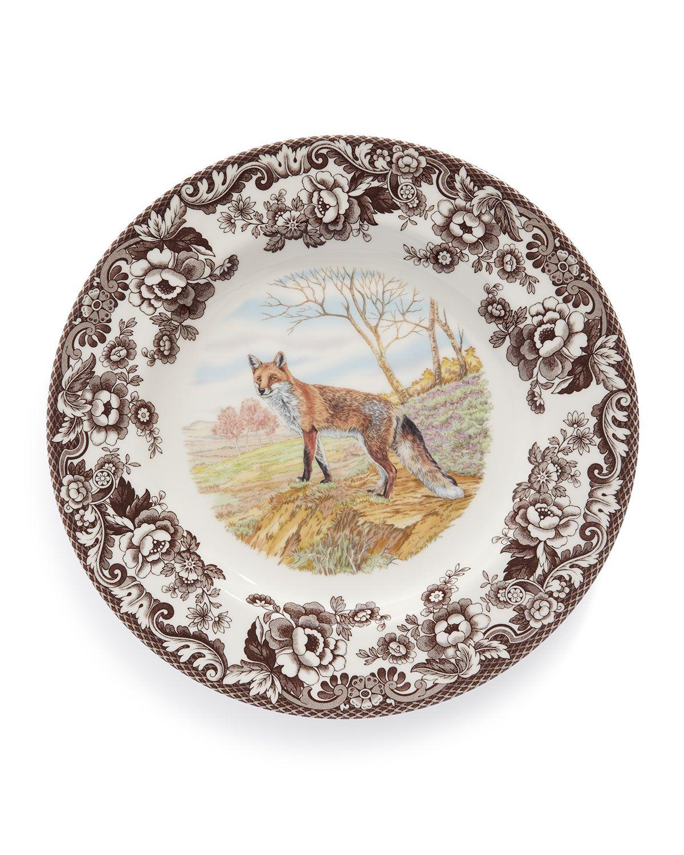 Spode Woodland Fox Dinner Plates Set of 4  sc 1 st  Pinterest & Woodland Fox Dinner Plates Set of 4 White/Brown - Spode ...