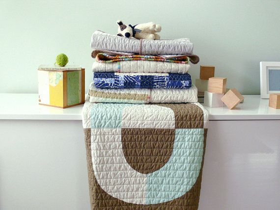 Contemporary Baby Quilt by Barbara Perrino