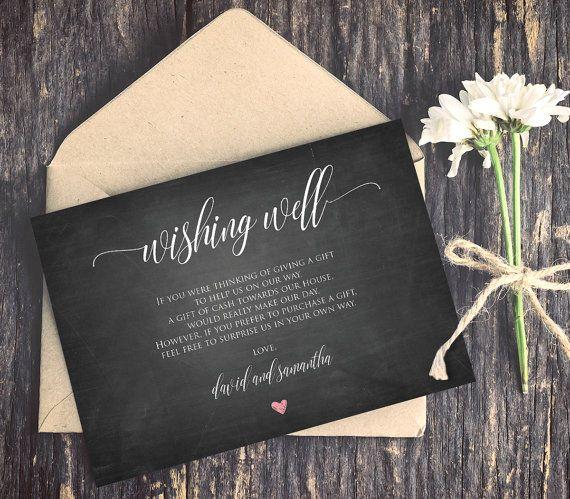 Wording For Money In Lieu Of Wedding Gifts: Wishing Well Poems, Wishing