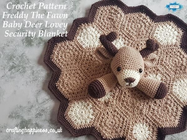 Crochet Pattern: Freddy The Fawn Baby Deer Lovey Security Blanket #securityblankets