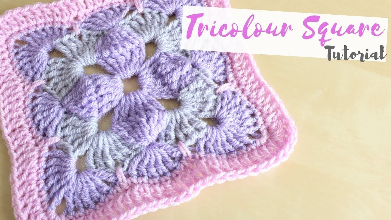 Crochet Tricolour Square Tutorial Bella Coco Crochet Tutorial Crochet Tutorial Youtube Crochet Patterns