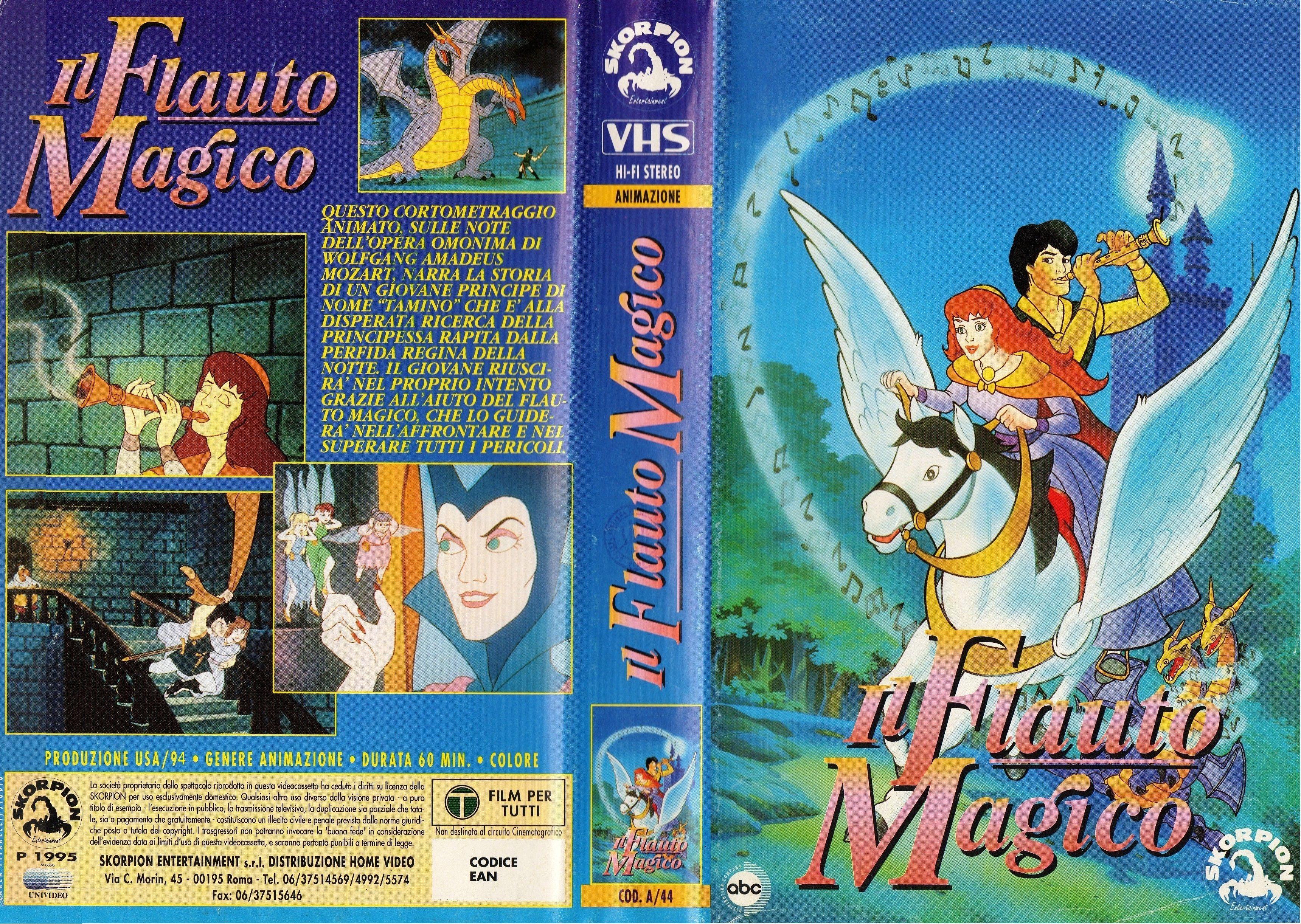 Il flauto magico the magic flute vhs cov… fiabe