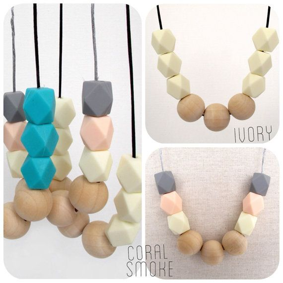 for mum baby sensory Australia bpa free safe was teething Silicone necklace