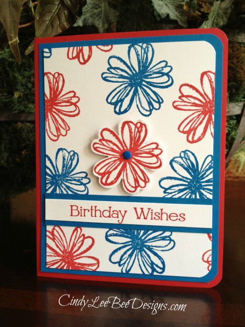 Su Flower Shop Blues Stampin Up Birthday Cards Flower Cards Cards Handmade