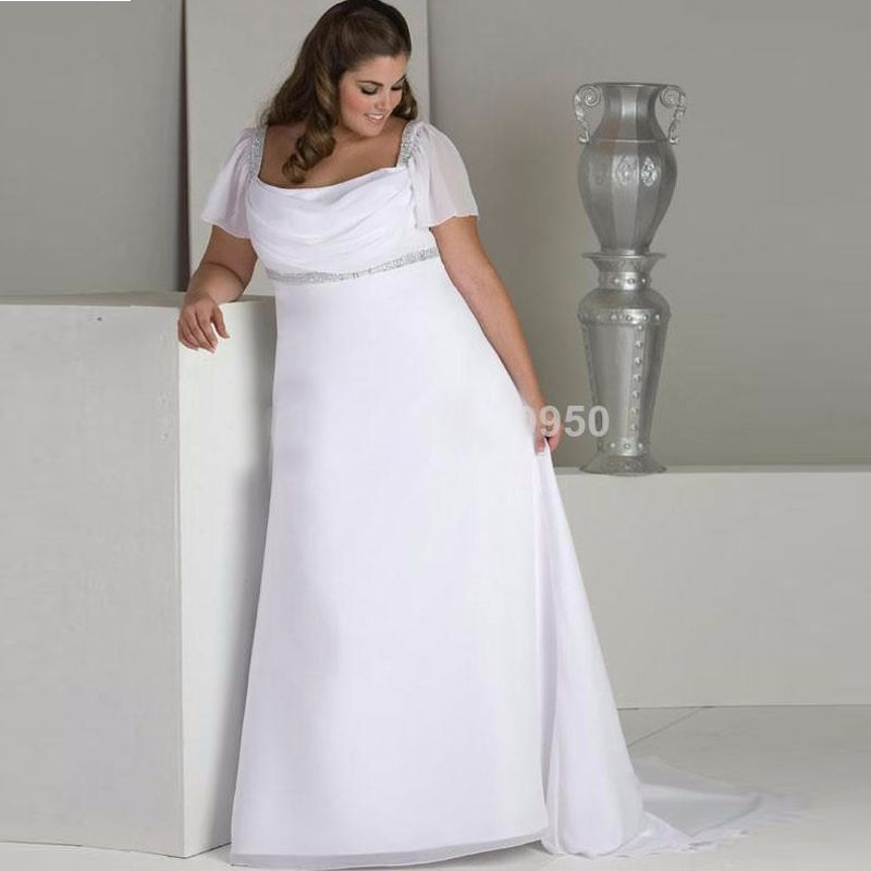 Hot Sale Cap Sleeves Empire Waist Chiffon Long Plus Size Wedding Dress  Maternity Bridal Gowns ForHot Sale Cap Sleeves Empire Waist Chiffon Long Plus Size Wedding  . Plus Size Maternity Wedding Dresses. Home Design Ideas