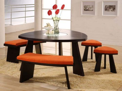 Choose A Triangle Dining Table For Your Dining Room Homes Innovator Dining Table With Bench Dining Table Set