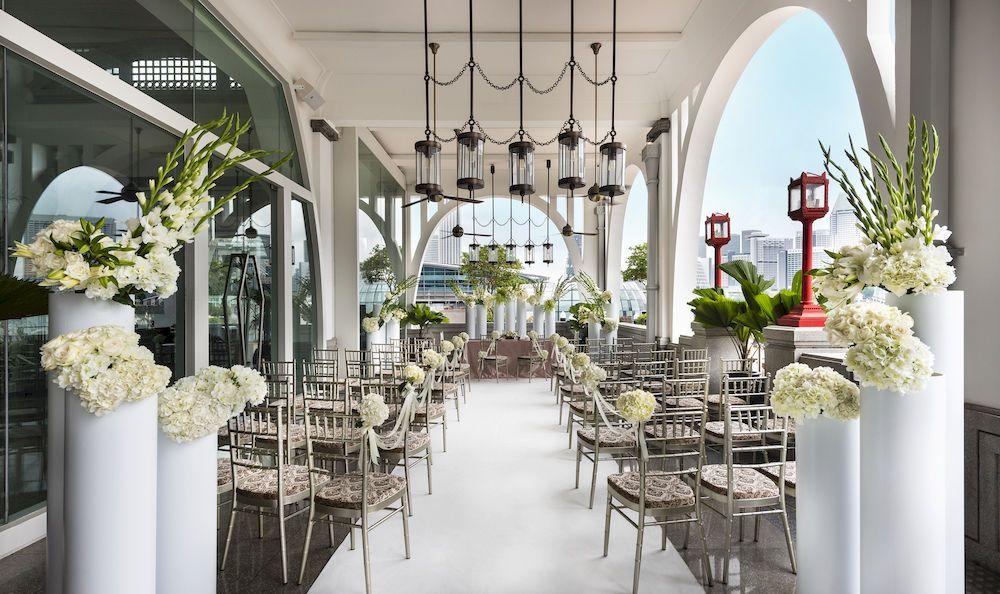 Fullerton Bay Hotel Clifford Pier Alfresco Area Affordable Wedding Packages Chicago Wedding Venues Modern Wedding Venue