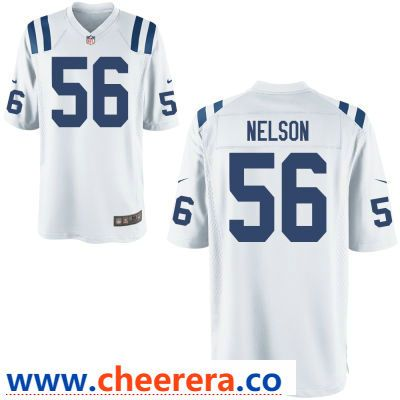 Men s Indianapolis Colts  56 Quenton Nelson White Road Stitched NFL Nike  Game Jersey ef7f51b76