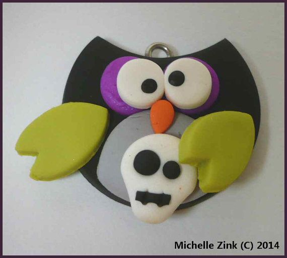 New Polymer Clay Bottle Cap Princess owl on by michellesclaybeads