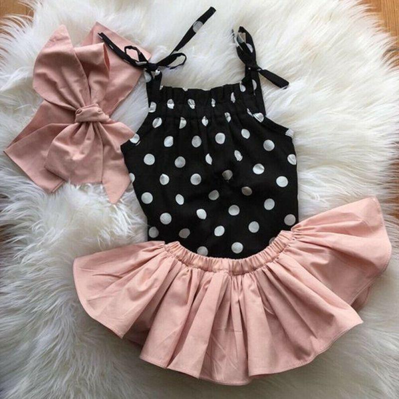Newborn Toddler Clothes Baby Girls Romper Dress Shorts Headband Outfit Sets Newborn Shorts Sleeveless