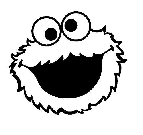 Amazon Com Cookie Monster Face Vinyl Decal Cookie Monster Sticker Kids Stickers Sesame Street Inspired Nurs Monster Stickers Monster Cookies Kids Stickers