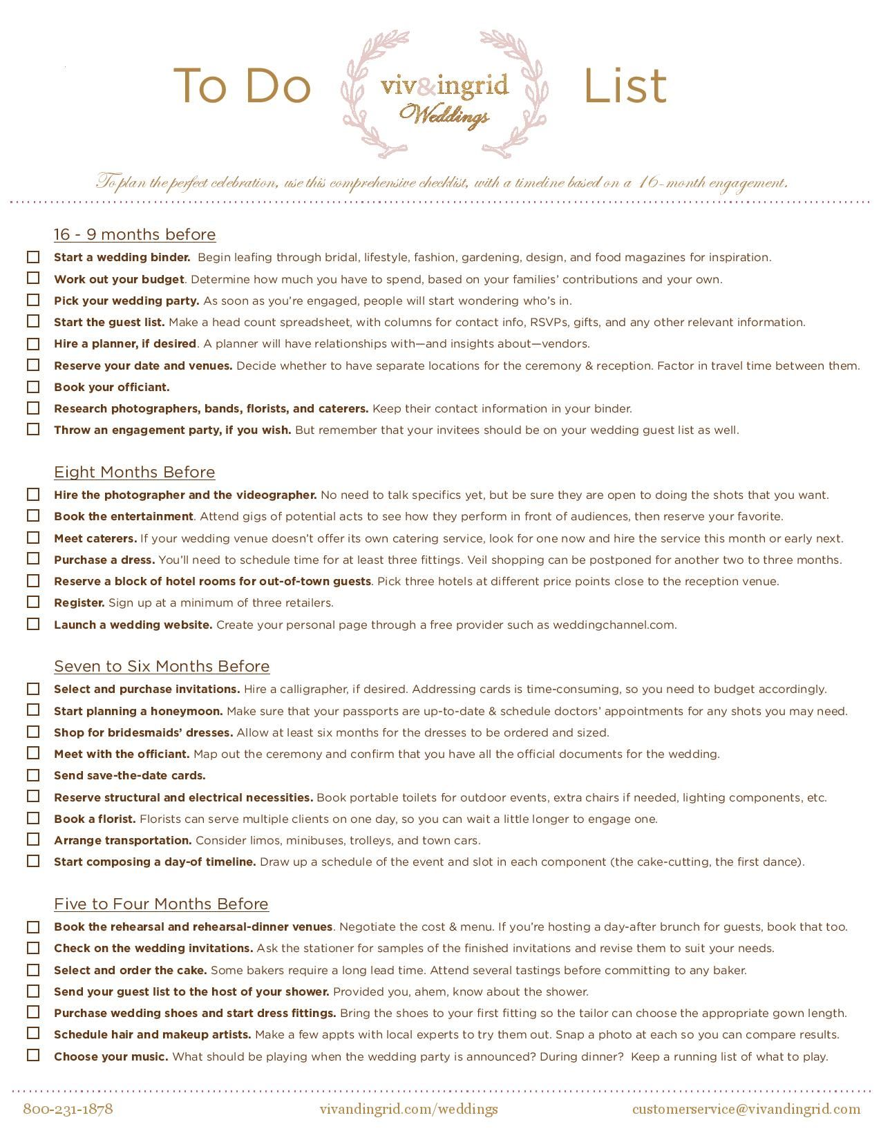 We Made You A Free Printable Wedding To Do Checklist With All The Things