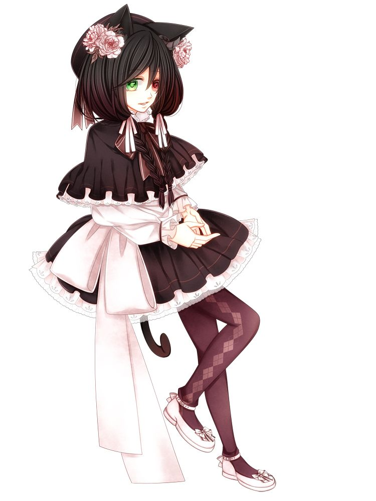 anime heterochromia odd eyes