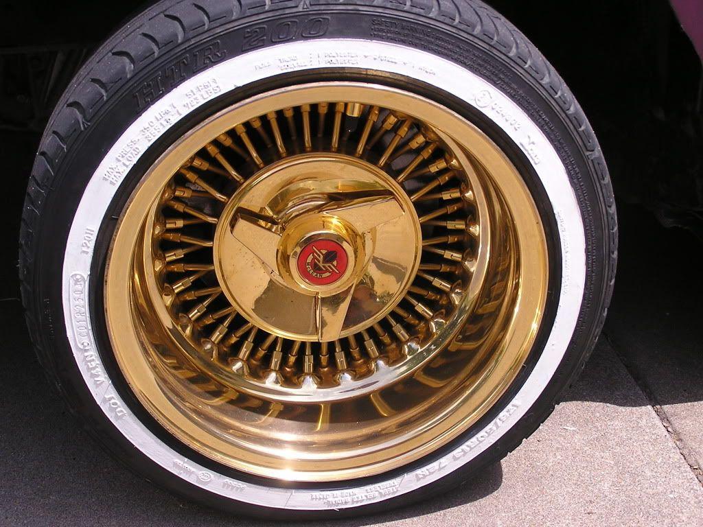 Lowrider rims 4 sale - All Gold Mclean Wire Wheel 13x7 Wire Wheelsautos