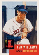 Photo 1953 Topps Ted Williams Designed By Keith Conforti