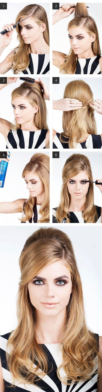 Luce estupenda en estas fiestas con este peinado estilo glam