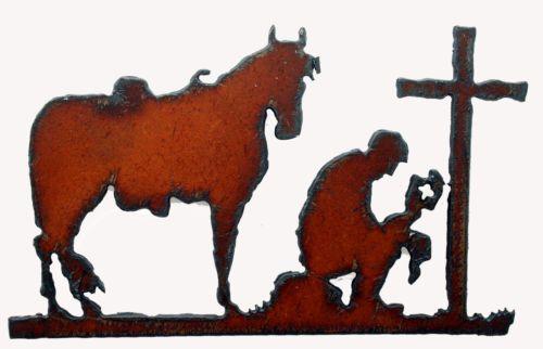 #New! Fridge #Magnet #Western #Decor #Cowboy At Cross Prayer