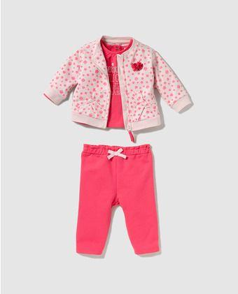 69568a339 Conjunto de bebé niña Freestyle de tres piezas