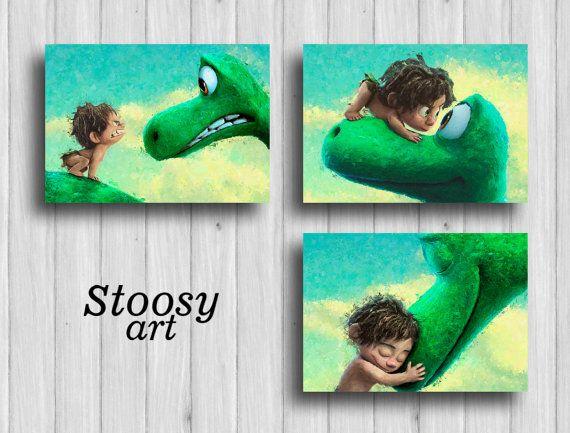 The Good Dinosaur Print Set Of 3 Nursery Room Decor By Stoosyart