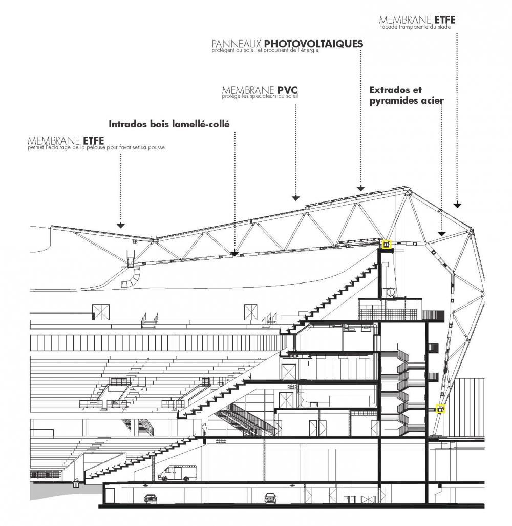 hight resolution of imagen 24 de 28 de la galer a de en detalle estructuras a gran escala estadios willmote allianz rivera wilmotte associ s sa detalle