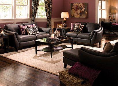 Greccio Contemporary Leather Living Room Collection