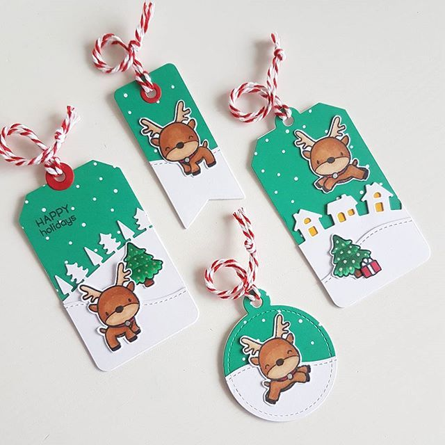 Diy Christmas Cards, Christmas Gift Ideas, Christmas Crafts, Color Crafts,  Label Tag, Lawn Fawn, Diy Cards, Gift Card Holders, Card Tags