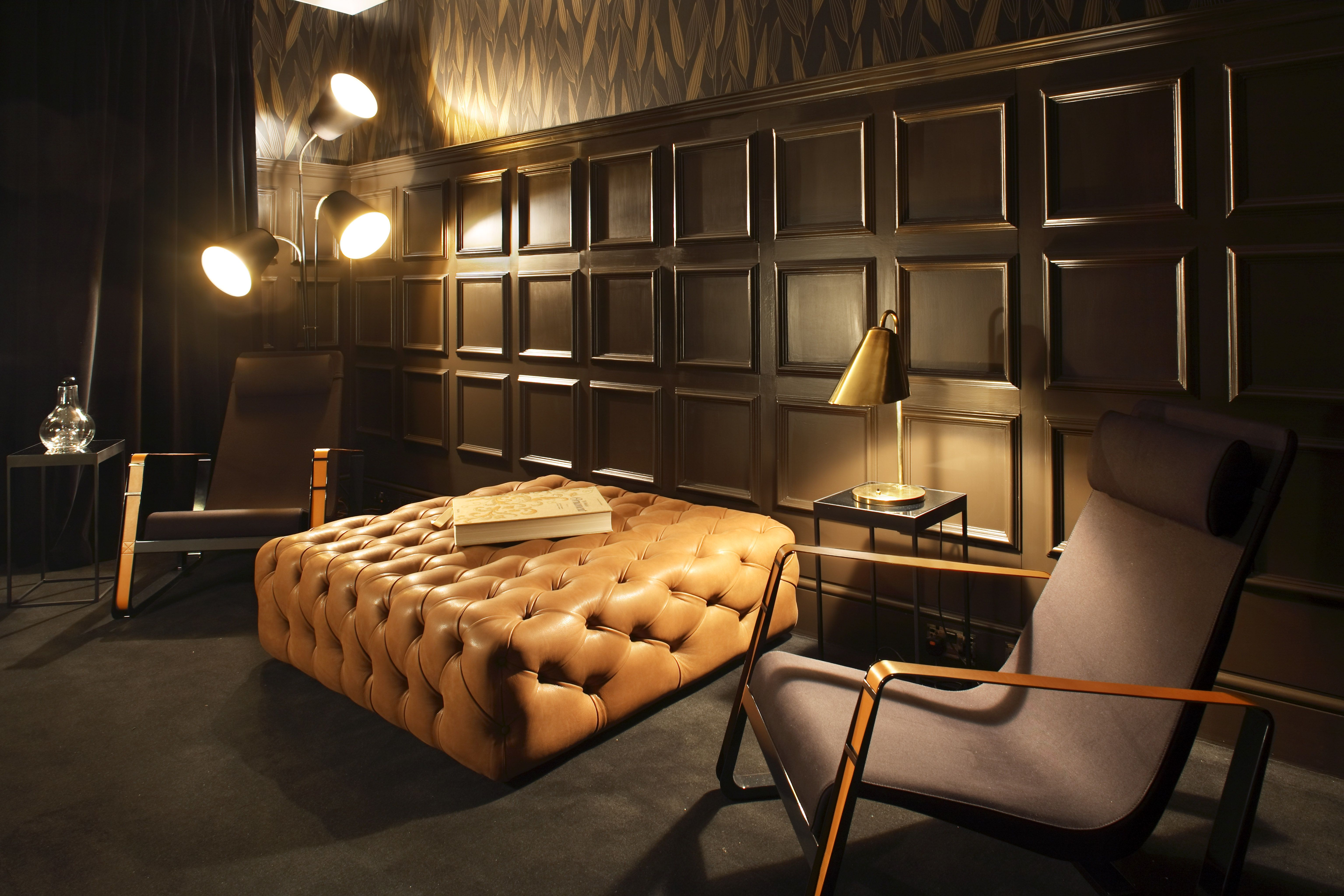 Breakout room rich moulding nod to traditional english design