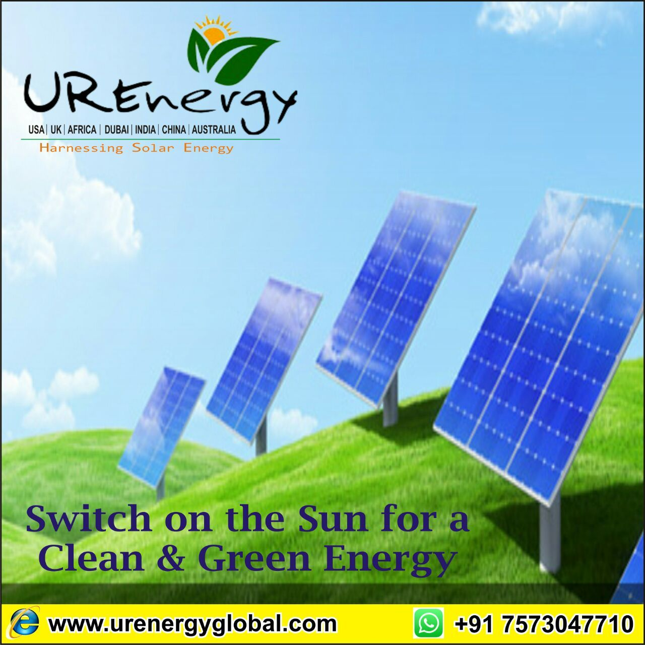 Switch On The Sun For A Clean Green Energy Ur Greenenergy Solarlight Solarenergy