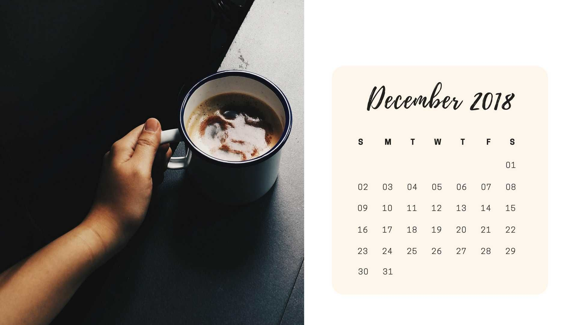 December 2019 Calendar Laptop Wallpaper December 2018 Calendar Wallpaper for Desktop Background HD Images