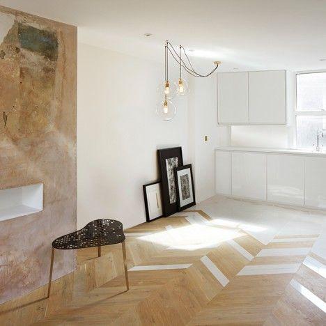 London Homes By Design Haus Liberty Combine Exposed Plaster With  Off The Shelf Materials U003eu003eu003e Love The Floor