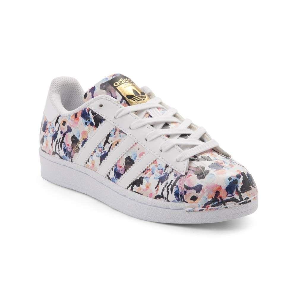 Tween adidas Superstar Floral Athletic