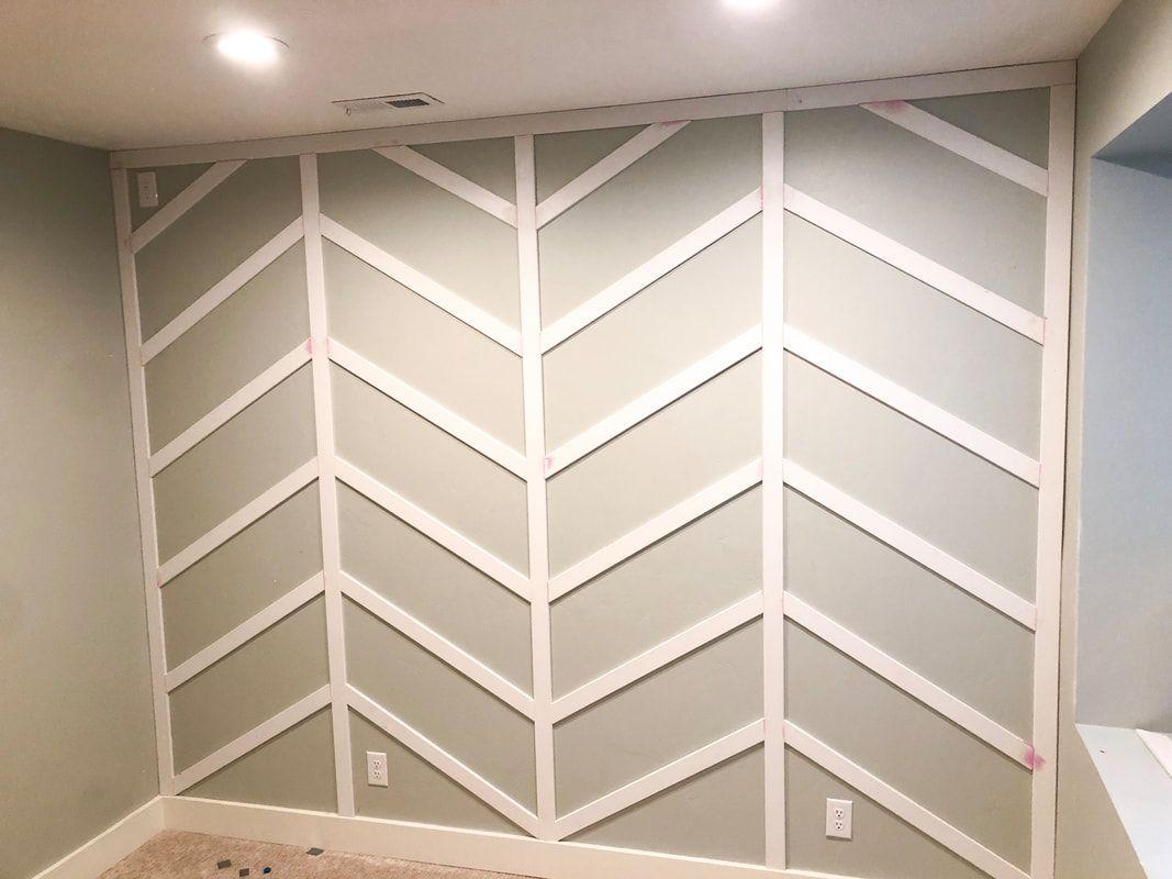 Herringbone Board and Batten Wall Tutorial – Honey Built Home #boardandbattenwall