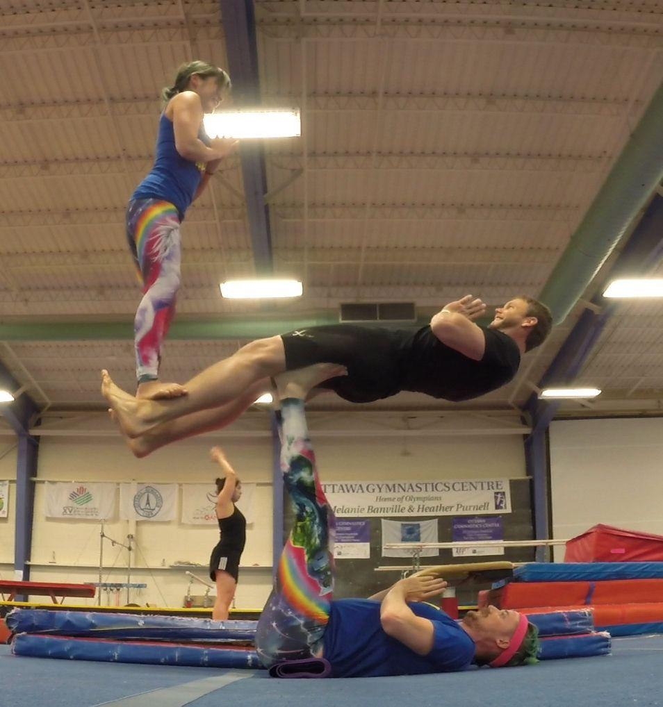 Three Person Back Bird Balancing Acroyoga Pose Acroyoga Wikipedia 3 Person Yoga Poses Yoga Poses Acro Yoga Poses