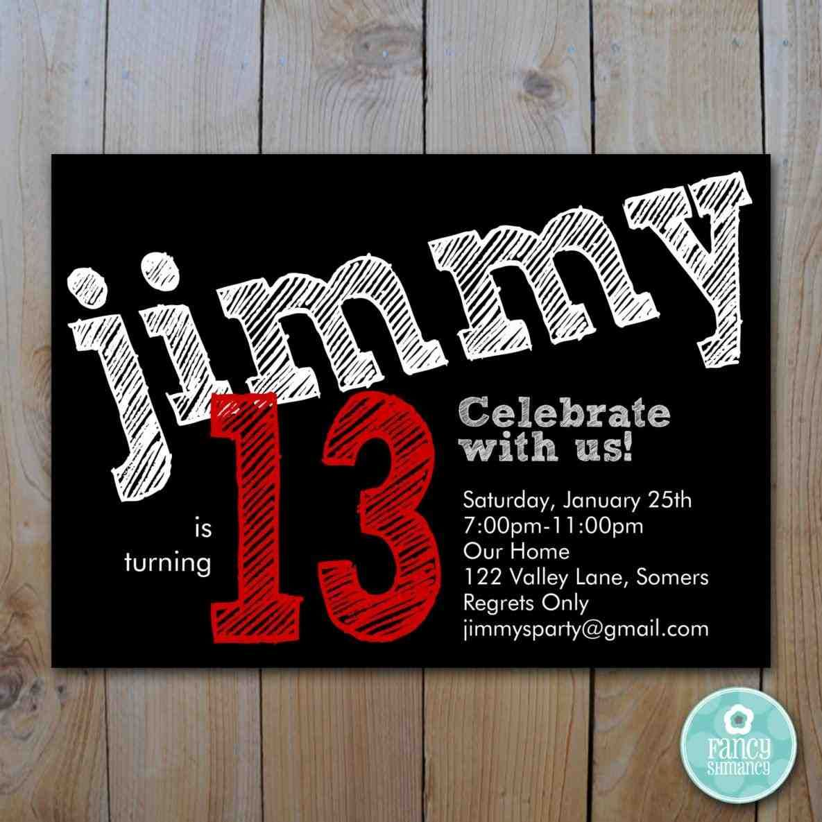 full size of design:13th birthday party invitations free printable ...