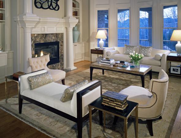 Chairs With Nailhead Trim, Pineapple House Interior Design, Atlanta, GA