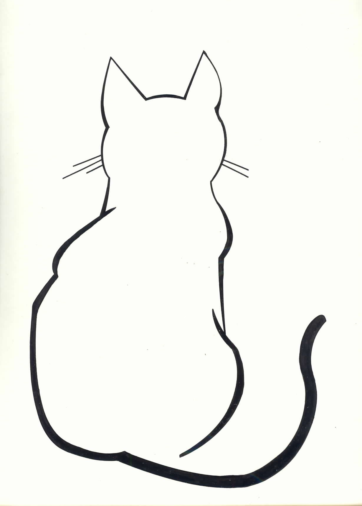Side Face Line Drawing : Diy cat silhouette pillow cases outline tattoo
