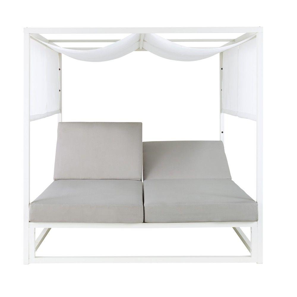Garten daybed aus aluminium wei garten and daybed - Daybed garten ...