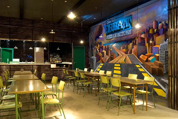 Urban Pizza Factory Interieur by Más Arquitectura #architecture
