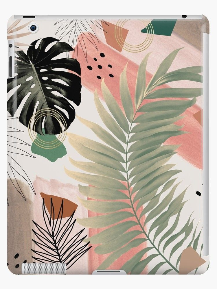 Palm Leaf Summer Glam #1 #tropical #decor #art  iP