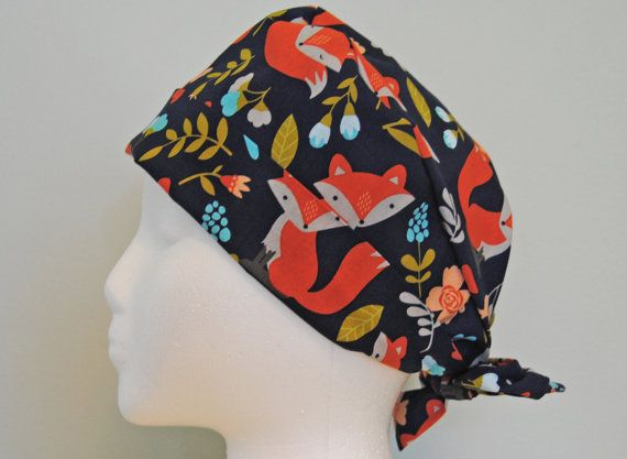 What Does the Fox Say Womens\' Surgical or Chemo Cap by MedLidz | Sew ...
