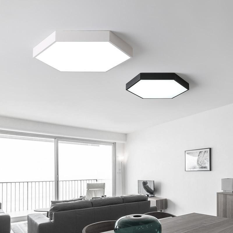 hexagon 5 led ceiling light modern lamps living room fixtures lighting windward iv fan