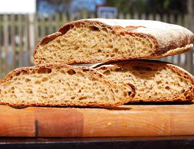 Whole-Wheat Sourdough Ciabatta recipe from holycow