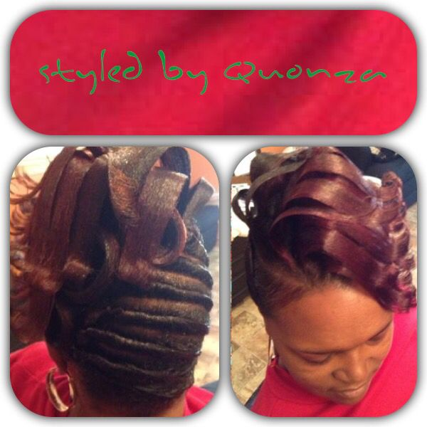 Twist And Waterfalls Hair Styles Black Women Updo Hairstyles Permed Hairstyles