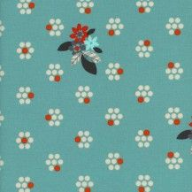 Fruit Dots Fruit Blossoms Quilting Fabric - Blue