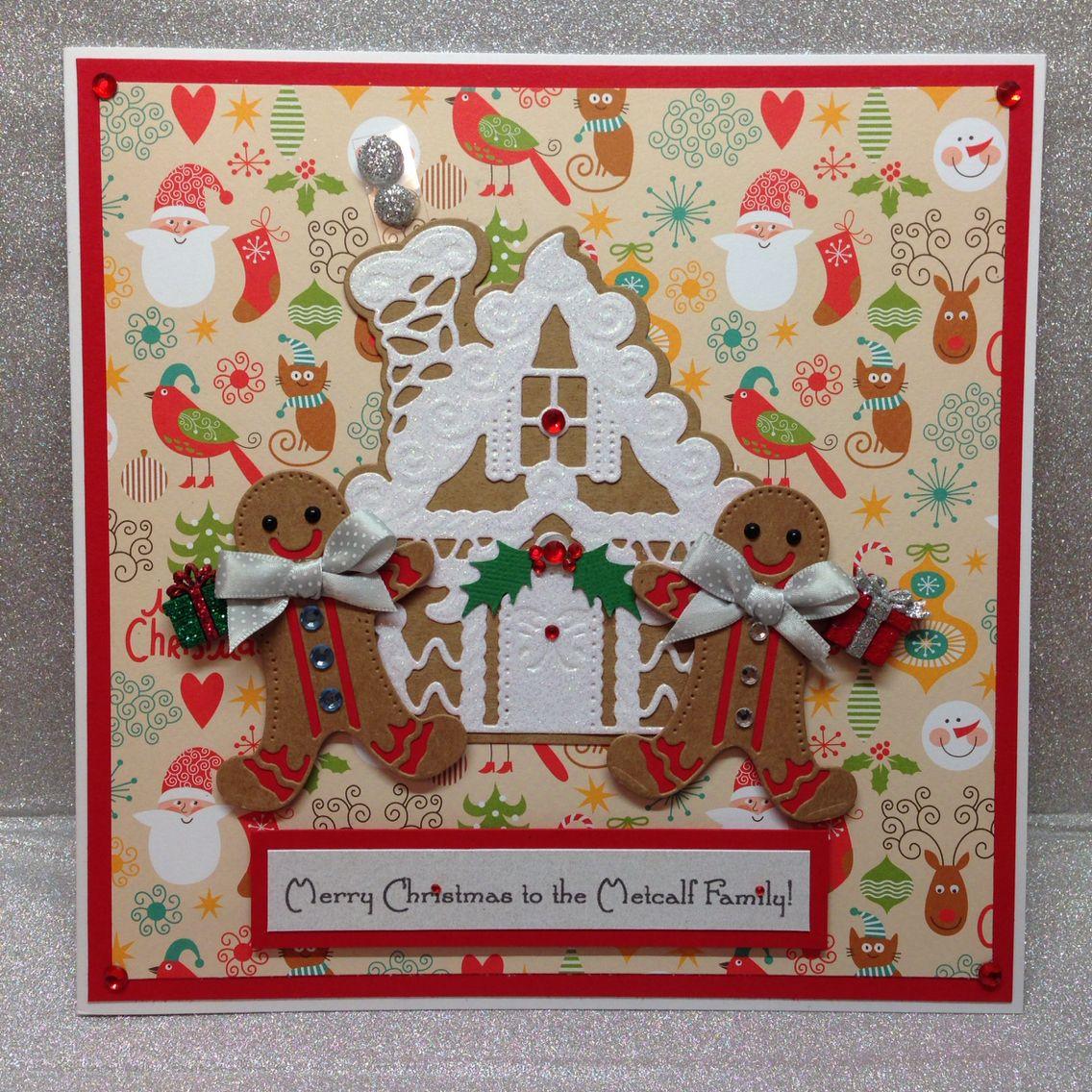 Gingerbread House Die By Spellbinders And Gingerbread Man