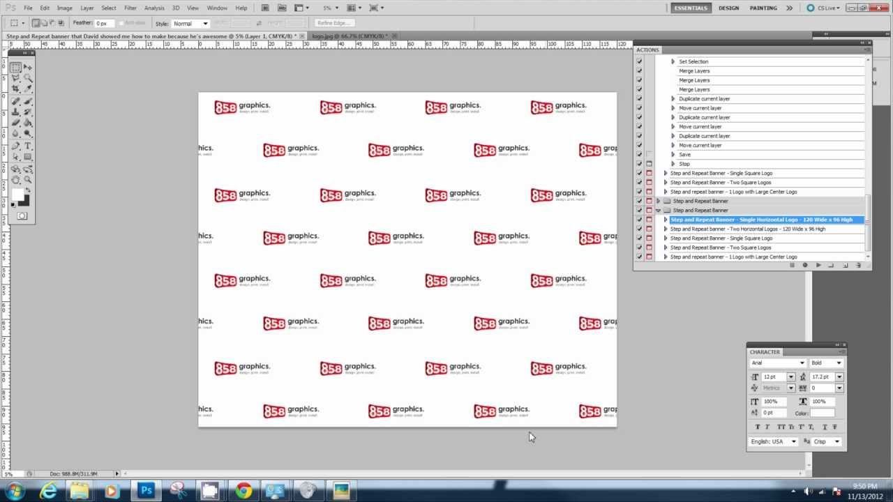 Downloading And Using The Step And Repeat Photoshop Action Within Step And Repeat Banner Te Banner Template Banner Template Photoshop Printable Banner Template Step and repeat template photoshop